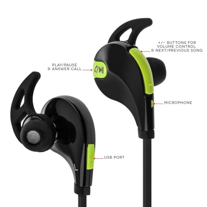 Sports ear phones with bluetooth