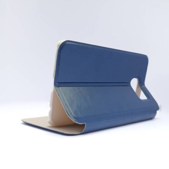 new concept 32cc2 a4fd6 Samsung S6 FOLIO Premium Ultra Slim Flip Case-Blue