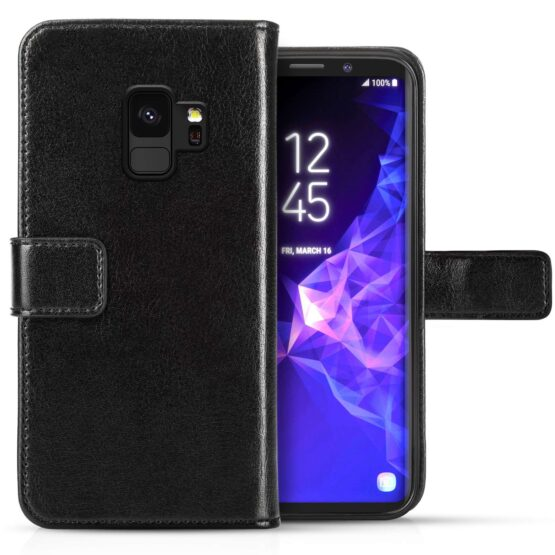 Two S9 Leather Cases - One Open One Shut