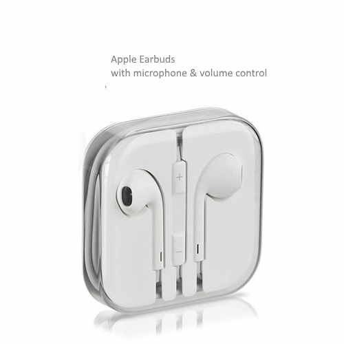 White Apple EarBuda in a box