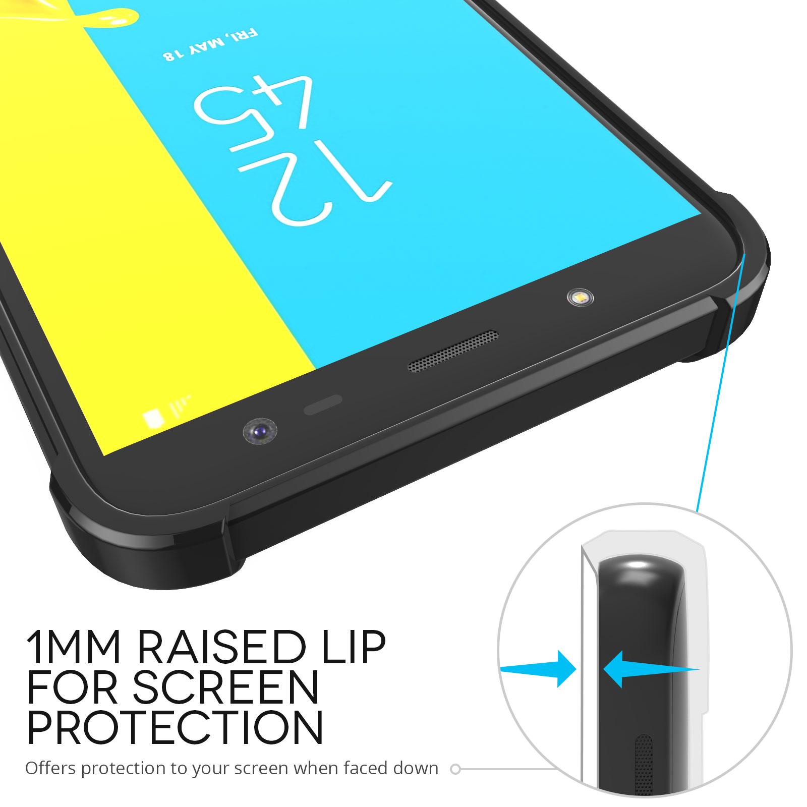 buy popular c9ac8 a4cb0 Black Samsung Galaxy J6 2018 Carbon Fibre Effect Gel Case
