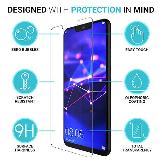 Huawei P20 Glass Protector Infographic