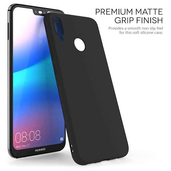 new concept 3abff 99145 Black TPU Huawei P20 Lite Case