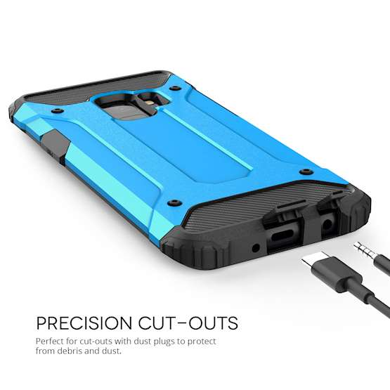 Show Samsung Galaxy S9 Anti-Shock Case Precision Cutouts for charging