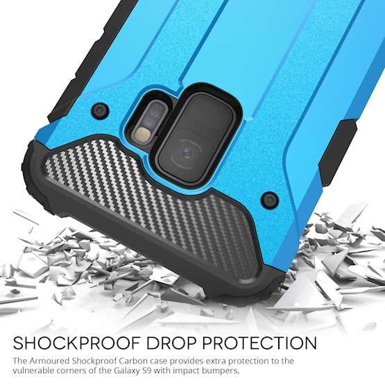 Picture Shockproof drop protected S9 smashing shards