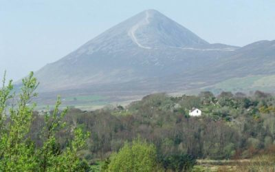 Picture of croagh Patrick Mountain in Co. Mayo ireland.