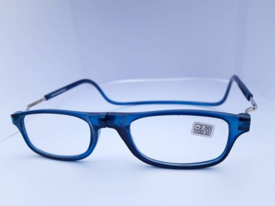Magnetic Reading Glasses Ireland with strength of +2.0 in blue.