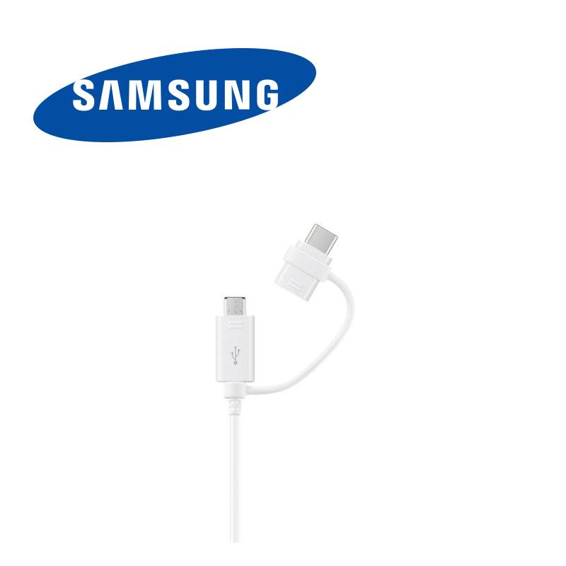 Dual connector for samsung phones micro usb and type-c