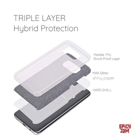 Picture of triple layers of phone case for samsung galaxy s8