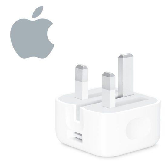 White UK Apple Watch Folding Mains Plug