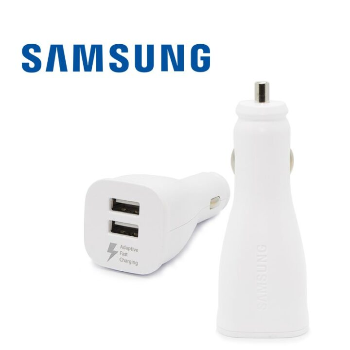 White Samsung Car Chargers