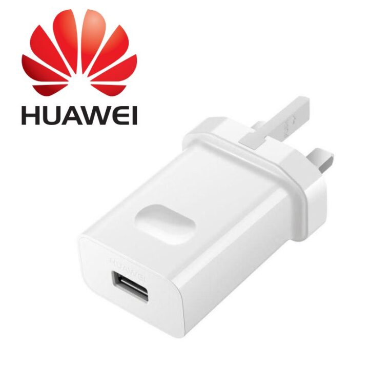 Huawei 3 pin plug in white with Huawei Logo