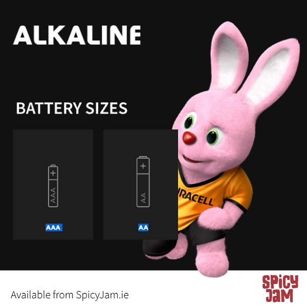 Picture of two battery sizes AA and AAA