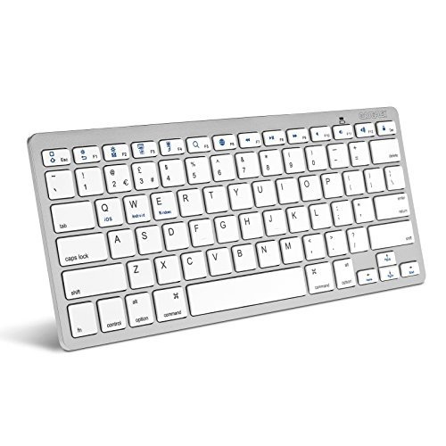 Silver Bluetooth Keyboard