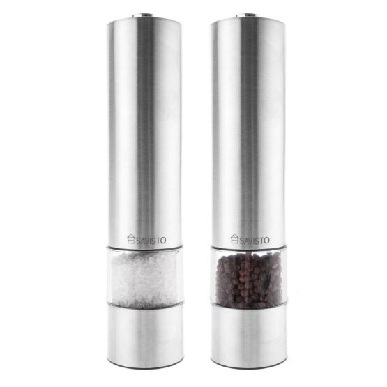 Silver Salt and Pepper Mill