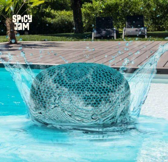 Green Pouf in Pool