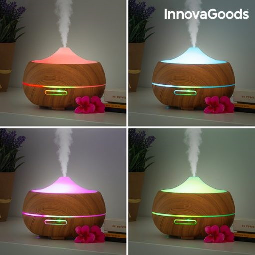 4 different images of Aromatherapy Humidifier with LED lights