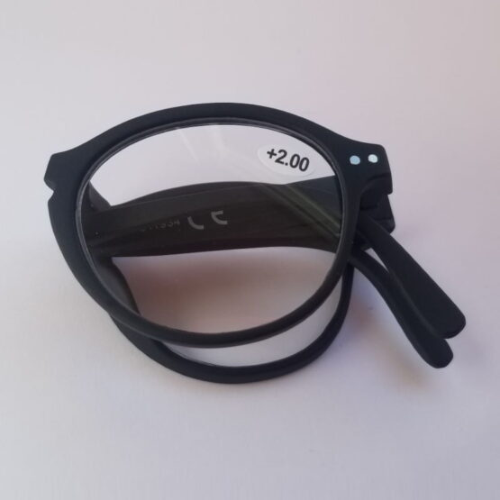 Folded Black reading glasses