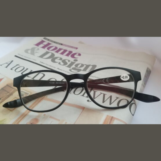 Black Reading Glasses on the Irish Times Newspaper