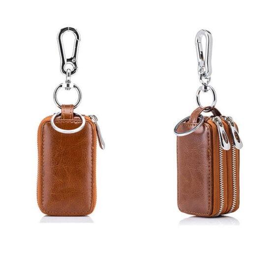 2 Brown Key Fob Holders