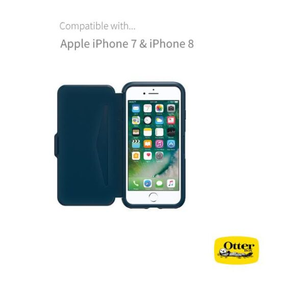 Picture of open Otterbox Blue Case for Iphone