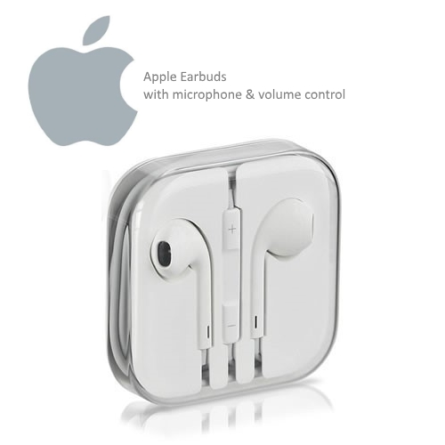Apple EarBuds (Earphones) in a Box with Logo