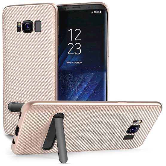 3 S8 Phones with Rose Gold Samsung Galaxy S8 Cases