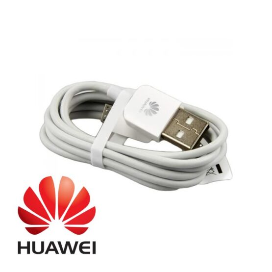 White Micro USB Cable with Huawei Logo