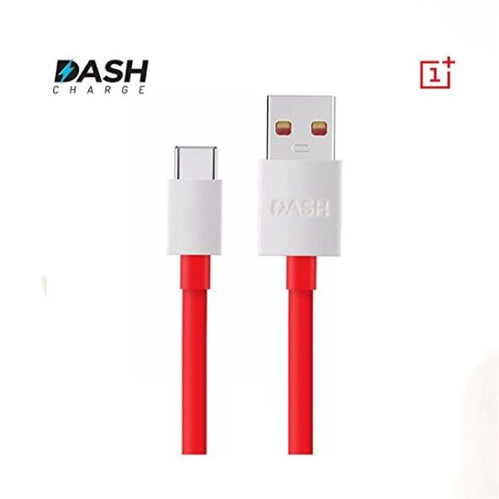 Red OnePlus type-c charging cable